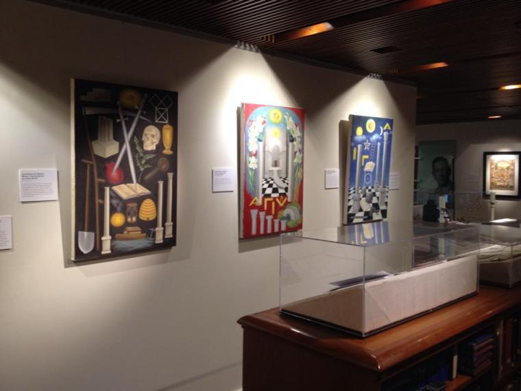 Some of my paintings at the Henry Wilson Coil Museum.